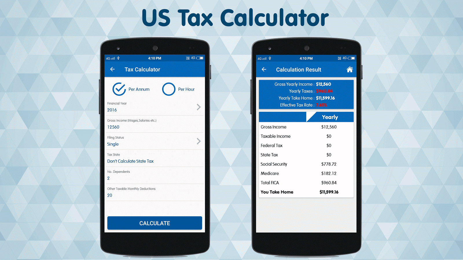 Income Tax Calculator 2016-17- screenshot