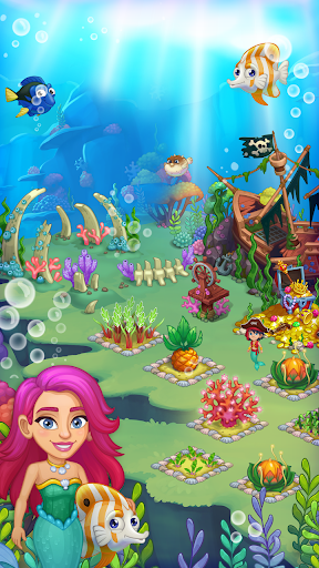 Aquarium Farm: fish town, Mermaid love story shark  screenshots 1