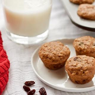 Mini Oatmeal Raisin Toddler Muffins
