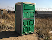 One of the new Ventilated Improved Pit (VIP) toilets being provided to residents at informal settlements in Johannesburg.