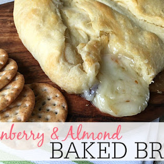 Cranberry and Almond Baked Brie.