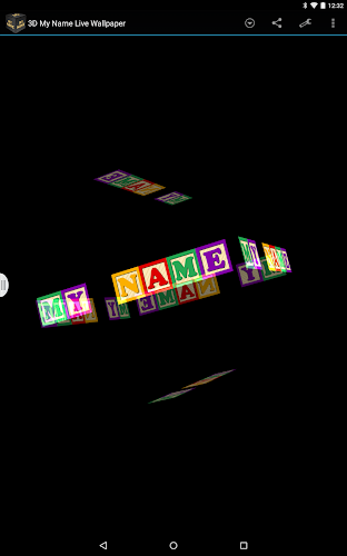 3D My Name Live Wallpaper Android App Screenshot