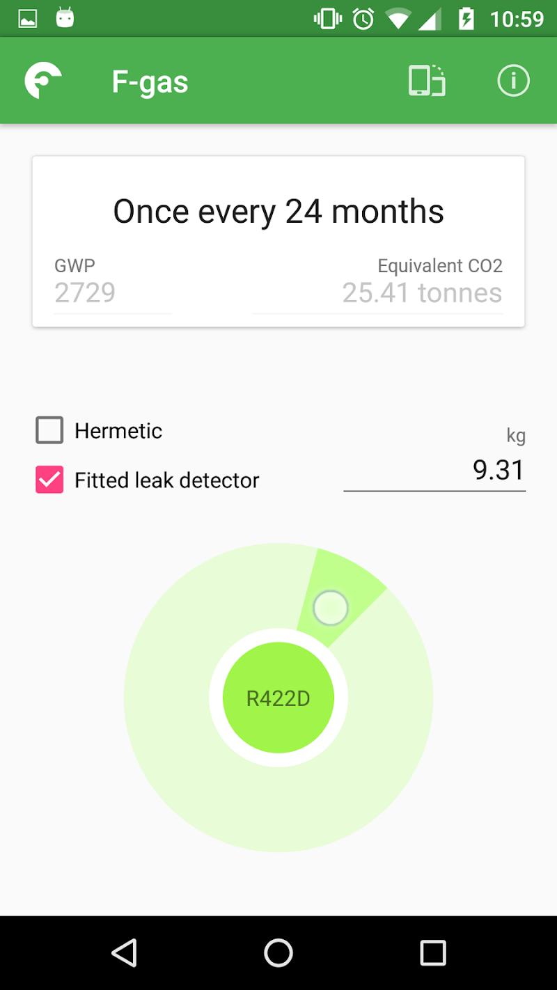 Скриншот F-gas