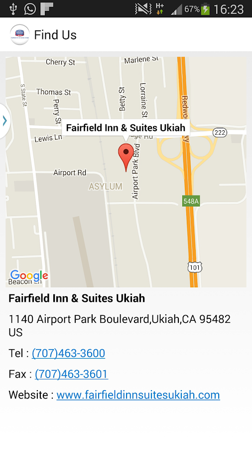 Fairfield Inn & Suites Ukiah- screenshot