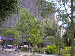 Photo: Northeast corner of Washington Square Park and the NYU Silver Center for Arts and Science, 100 Washington Square East, Greenwich Village, 26 June 2011. (Photograph by Elyaqim Mosheh Adam.)