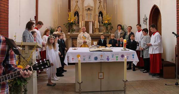 Erstkommuniongottesdienst in Sondermühlen 08.04.2018