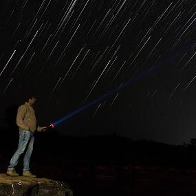 Star Hunter by Himanshu Jethva - Landscapes Starscapes ( startrail, dang, stars, trail, india, night )