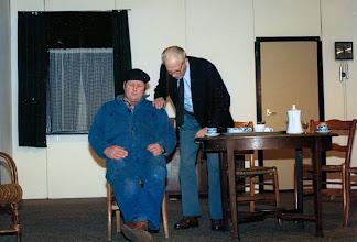 Photo: Toneel: meester Doornbusch en Roelof Mennega