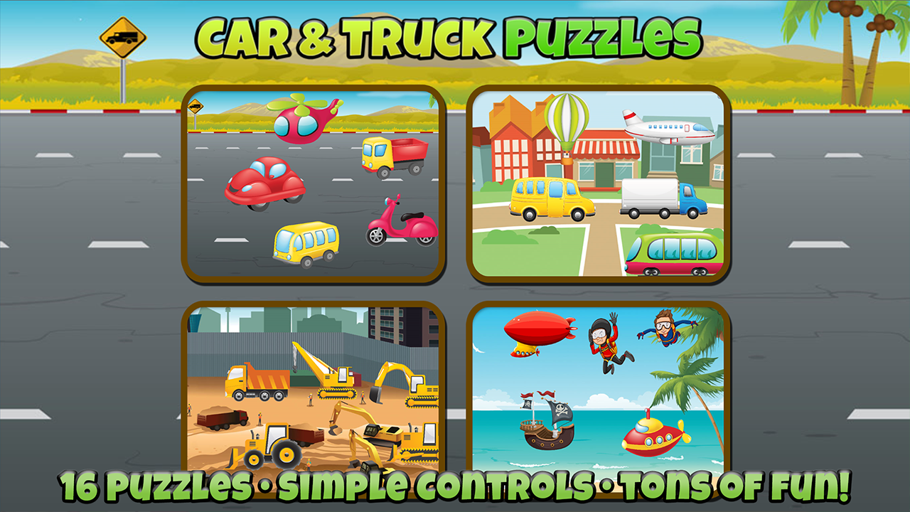 Car and Truck Puzzles For Kids- screenshot