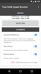 Total RAM Speed Booster Screenshot