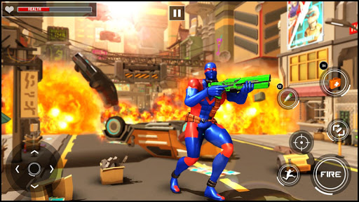 Superhero Firing Battlefield: Free Hero Game  captures d'écran 2
