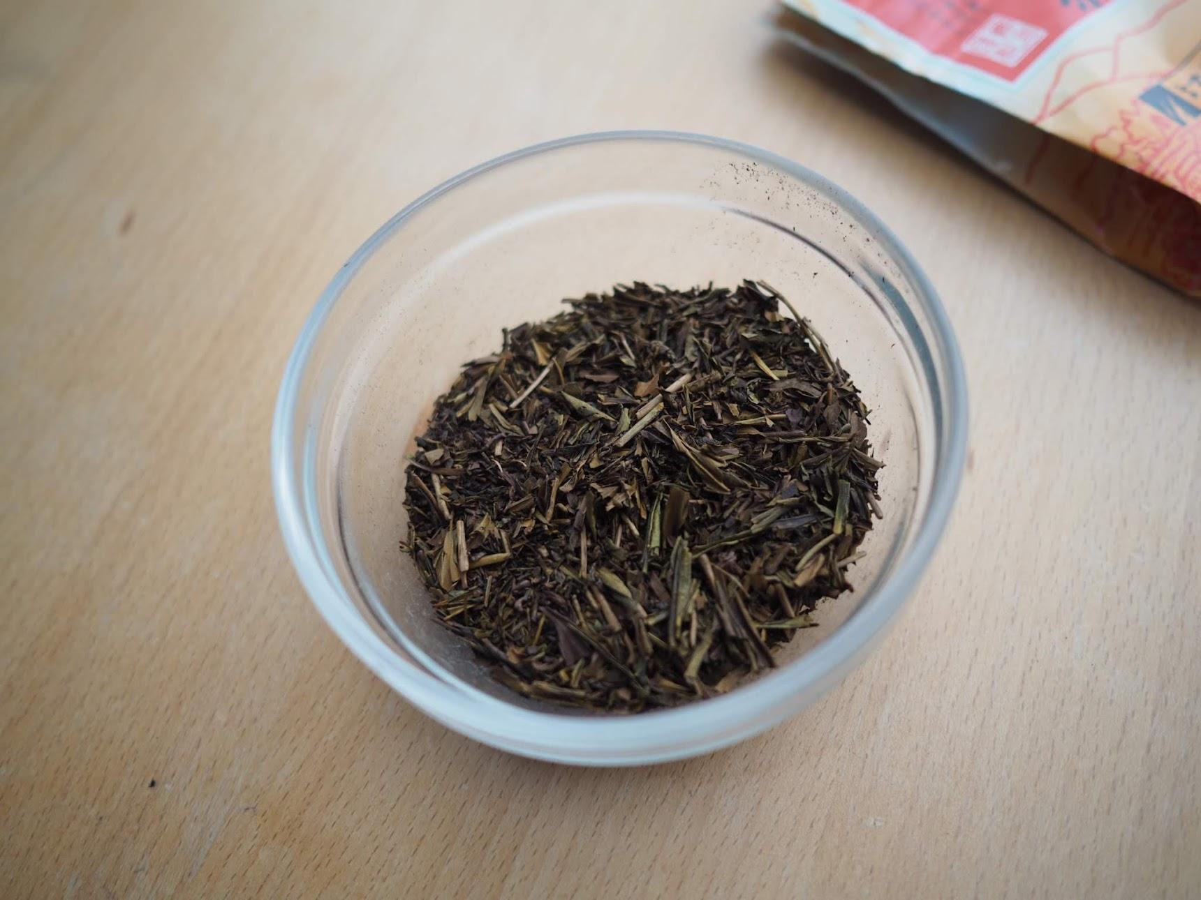 ほうじ茶の分量を量る