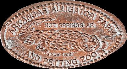 Photo: Arkansas Alligator Farm penny