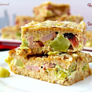 Ham & Broccoli Strata with Smoked Cheddar