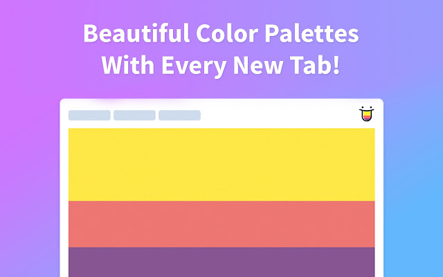 a beautiful color palette with every new tab