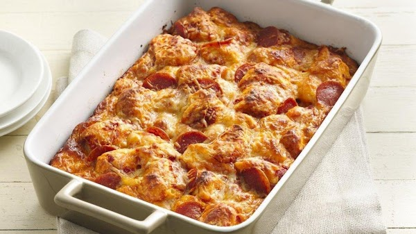 Grands Pepperoni Pizza Bake Recipe