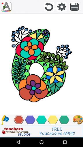 玩免費遊戲APP|下載Adult Coloring Books: Alphabet app不用錢|硬是要APP