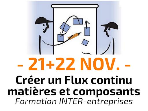 Créer un flux continu matières et composants Formation Inter-entreprises