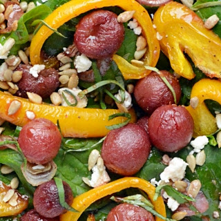 Spinach Salad with Roasted Grapes #FoodNFlix.