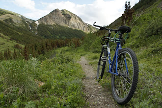 Photo: Mountain biking and peakbagging - a great combination!