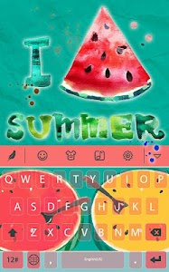 Summer watermelon for Keyboard screenshot 0