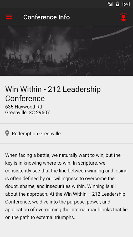 212 Leadership Conference- screenshot