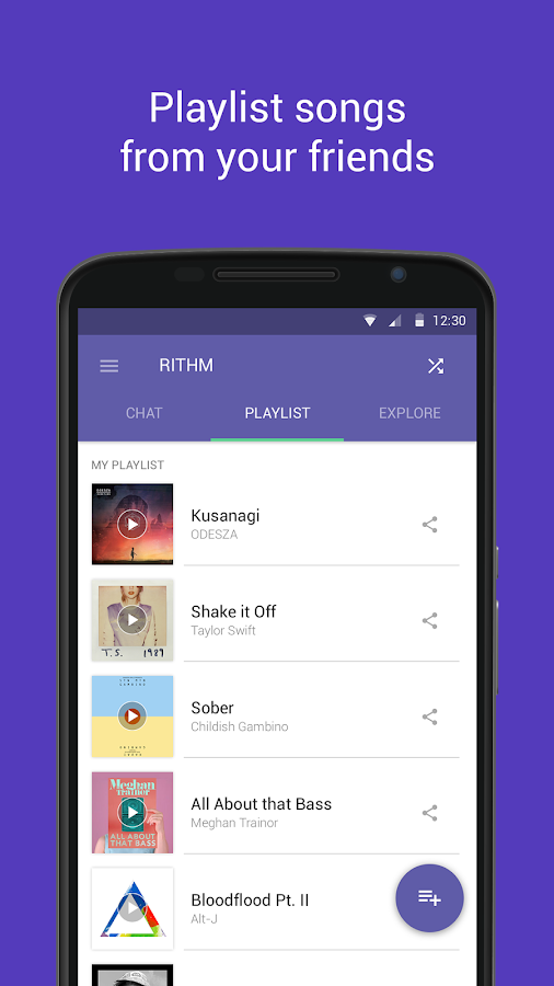 Rithm - Free Music Messaging - screenshot