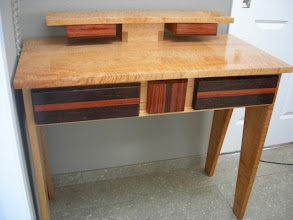 Photo: This dressing table (not built by me) inspired the design for my desk.  http://www.finewoodworking.com/item/27420/dressing-table