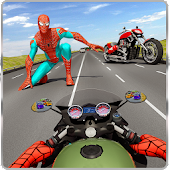 Spider Hero Rider - Traffic Highway Racer
