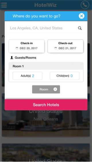 Hotelwiz- screenshot