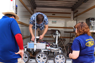 Photo: MRover (University of Michigan, Ann Arbor) prepares for the Astronaut Assistance Task