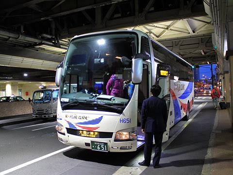 京成バス「K★スターライナー」 大阪・神戸線 H651 大阪梅田到着 その2
