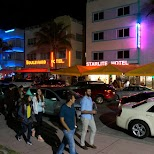 Ocean Drive neons in Miami, Florida, United States
