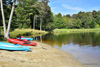 Photo: Kayaks avaliable to rent at Woodford State Park by Bill Steele