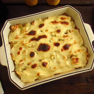 Cod In The Oven With Shrimp And Béchamel Sauce