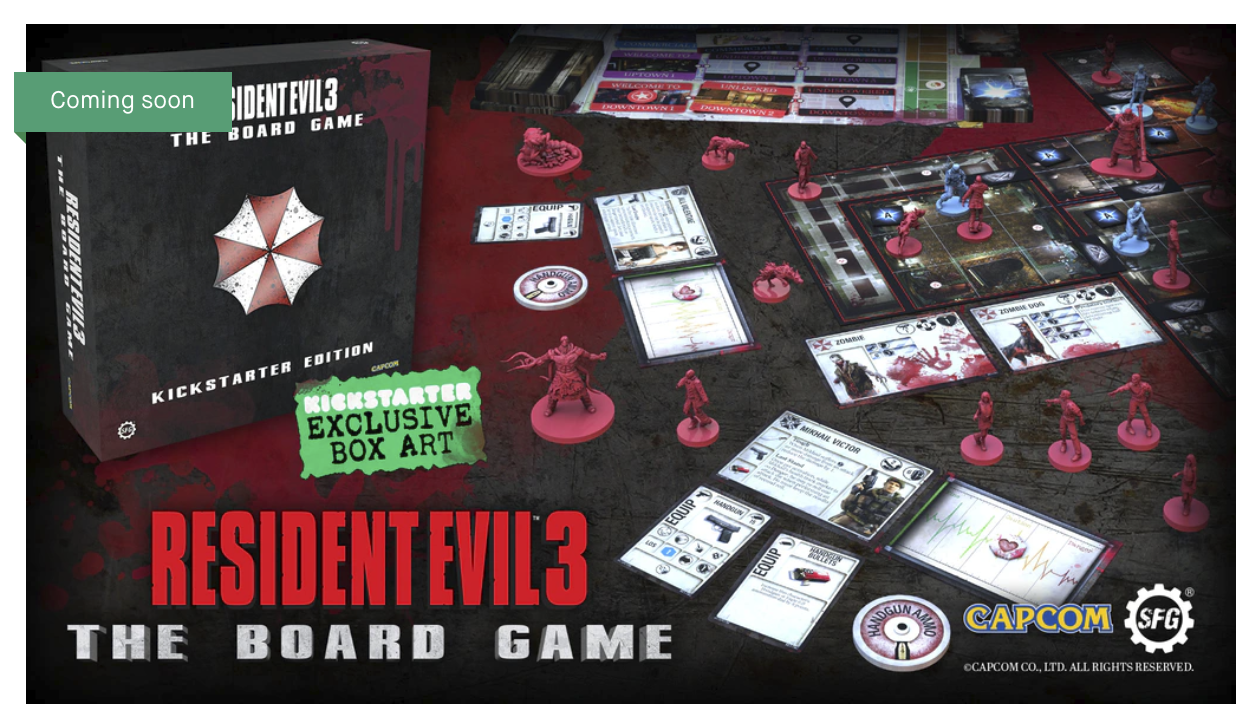 Kickstarter for Resident Evil 3: The Board Game