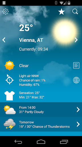 Weather Austria XL PRO screenshot 1