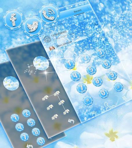 Blue Diamond Theme Wallpaper Glitter 1.1.3 6