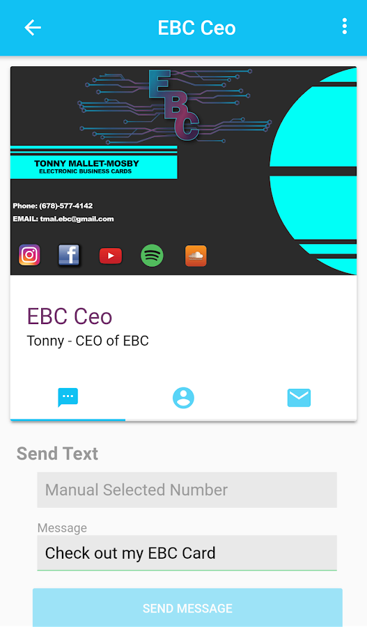 Ebc Electronic Business Card Screenshot