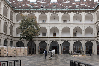 Photo: First peek at the Spanish Riding School.