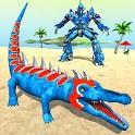 Crocodile Robot Car Transform Robot Games icon