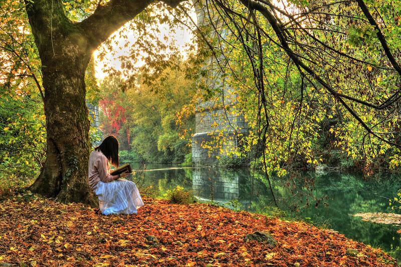 Leggere in riva al fiume di Cenc71