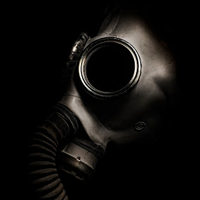 Instabliltiy by Mike Ritchie - Artistic Objects Other Objects ( gas, political, change, dark, mask, black, war )