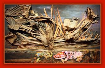 Photo: Antonio Berni La pampa tormentosa 1963. 300 × 400 ×37 cm. Colección particular, Buenos Aires. Expo: Antonio Berni. Juanito y Ramona (MALBA 2014-2015)