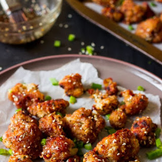 Sticky Spicy Sesame Cauliflower Wings (GF + V)