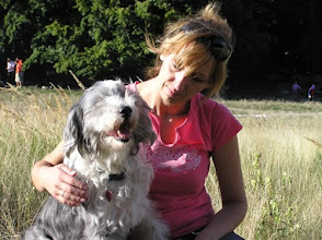 Photo: Jessica found an new home by Slavka. Jessica is left but Slavka is still in love with Bearded collies own new one.
