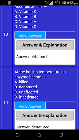 android Physics Chemistry Biology GK Screenshot 3