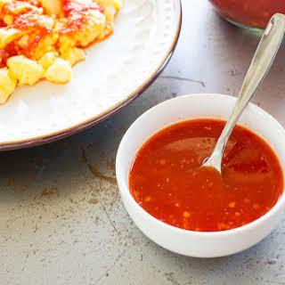 Homemade Hot Sauce.
