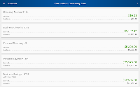First National Community Bank screenshot 5
