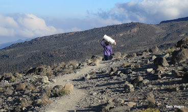 Photo: We started to run into porters and climbers